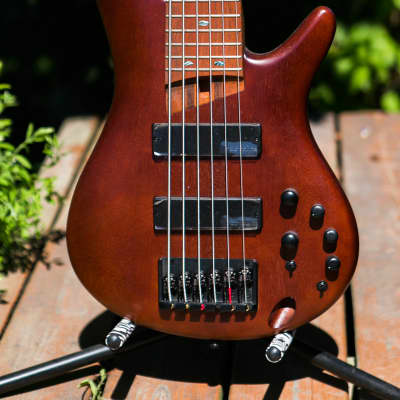Ibanez SR506E-BM Electric Bass 2019 Brown Mahogany 6 string bass Bartolini pups active EQ mint