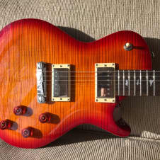 PRS SE 245 New 2017 Les Paul style Cherry Burst FLAMED  Paul Reed Smith Gig bag Pick-up covers added