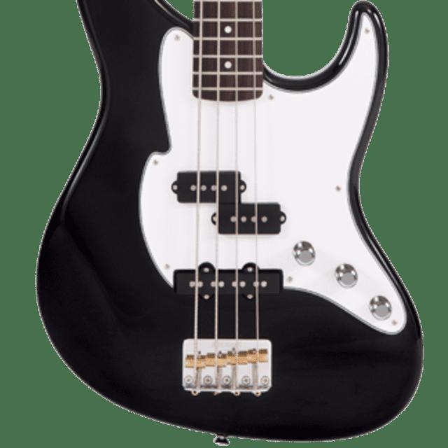 Fret-King Black Label Perception Bass FKV4BK Black, New, Free Shipping image