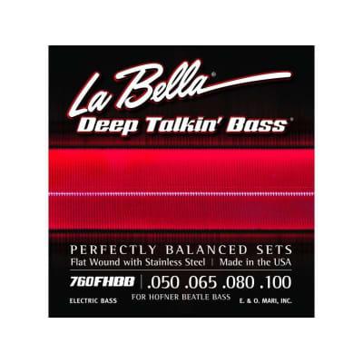 La Bella Deep Talkin 'Flatwound Bass Strings 760FHBB 50-100
