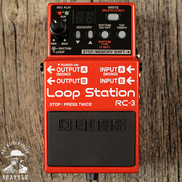 boss rc 3 loop station the guitar store reverb. Black Bedroom Furniture Sets. Home Design Ideas