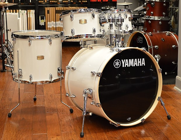 yamaha stage custom 5pc drum kit pure white reverb. Black Bedroom Furniture Sets. Home Design Ideas