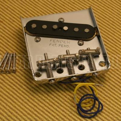 005-8384-000  Bridge & Pickup For '60s Classic Telecaster Threaded Nickel Saddles Chrome Plate
