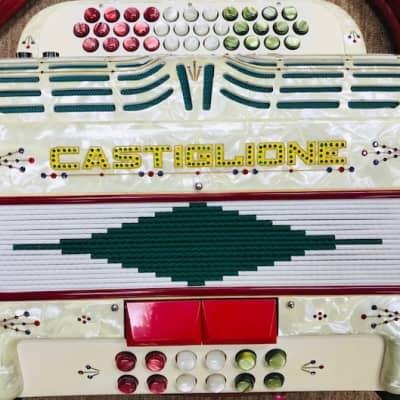 Castiglione Vintage Diatonic Button Acoustic/Electric Accordian