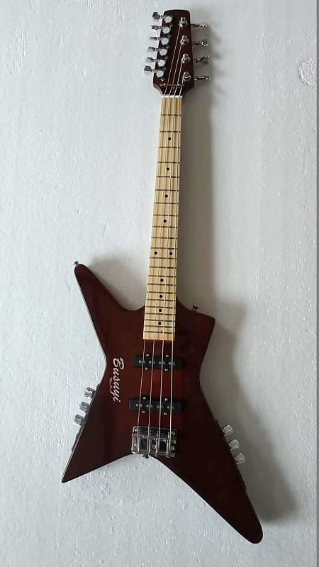 4 string neck thru short scale bass 6 string busuyi guitar reverb. Black Bedroom Furniture Sets. Home Design Ideas