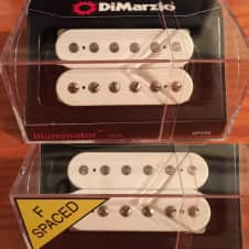 DiMarzio Illuminator set White, F spaced bridge W/FREE PRIORITY SHIPPING!