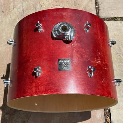 """Sonor Sonic Plus 22"""" Cherry Bass Drum 16x22 - Shell/Lugs/ Mount"""
