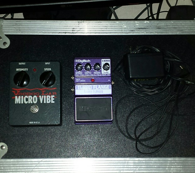 Voodoo Labs Micro Vibe+Digitech Flange+1Spot Power Supply Micro Vibe +Turbo  Flange + 1spot