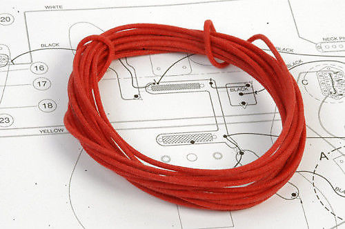 6 Ft Red Vintage Waxed Cloth Insulated 22g Wire For Vintage | Reverb