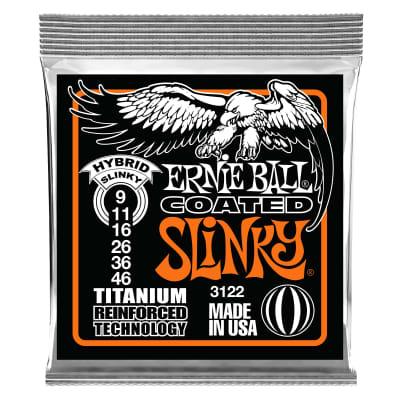 Ernie Ball Hybrid Slinky Coated Titanium RPS Electric Guitar Strings - 9-46 Gauge