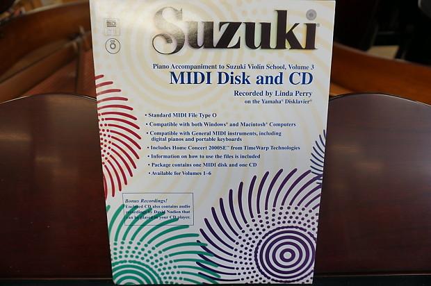 Suzuki Piano Accompaniment to Violin School Volume 3 MIDI Disk and CD