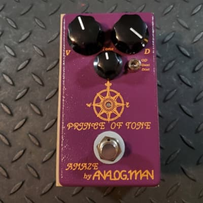 Analogman Prince Of Tone Boost Overdrive Distortion Pedal for sale