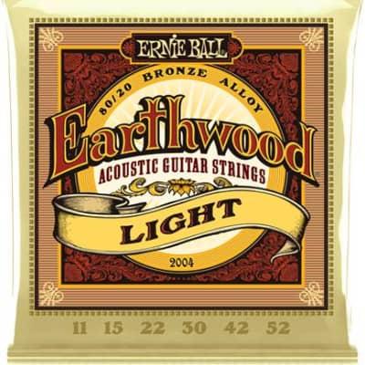 Ernie Ball #2004 - Earthwood Acoustic Strings, Light 11/52