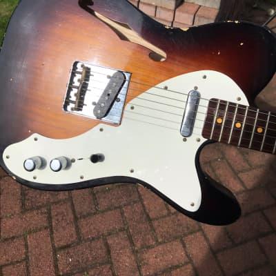 Fender Fender Custom Shop Limited 50's Thinline Telecaster Relic Wide Faded Sunburst 2016 Wide Faded Sunburst for sale