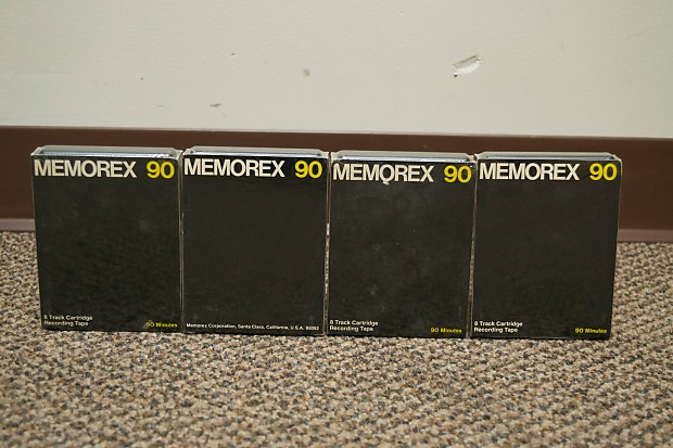 Memorex 90 Blank 8 Track Tape Cartridge Lot Of 4 New Old