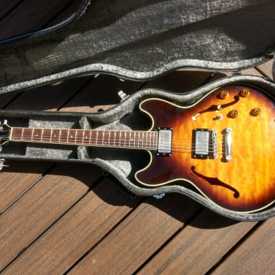 Stafford FAB Semi Hollow Body 1996 Burst MIJ for sale