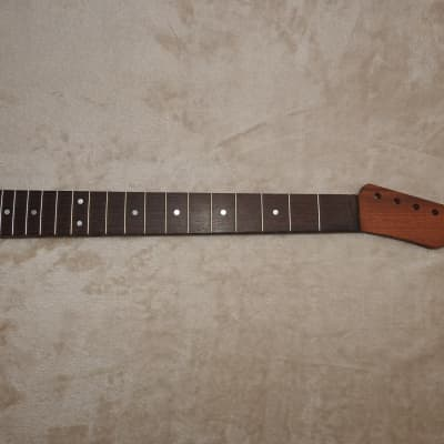 "Tele Style Unfinished Neck Wenge on Sapele 21 Medium Tall Frets C Profile 12"" Radius!"