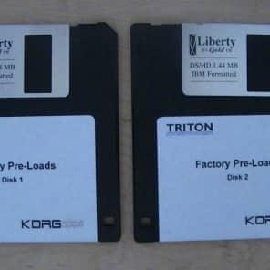 Korg Triton Classic & Pro Factory Preload Disks