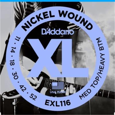 D'Addario EXL116 Electric Guitar Strings 11-52