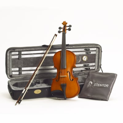 Stentor 1560C Conservatoire II Series 3/4 Size Violin Outfit w/Deluxe Oblong Case & Wood Bow