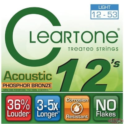 Cleartone Acoustic .012-.053 Light Strings
