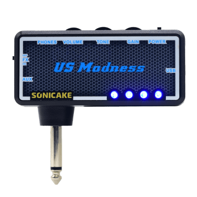 SONICAKE Guitar Bass Headphone Amp Plug-In US Madness w/h Chorus & Reverb Effects & Vintage Clean To