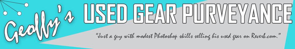 Geoffy's Used Gear Purveyance