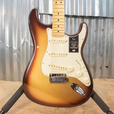 Fender American Ultra Stratocaster Guitar MN Mocha Burst