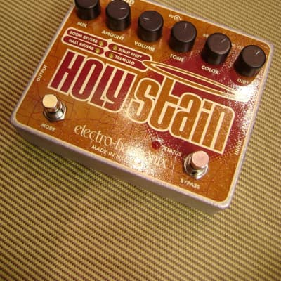 Electro Harmonix Holy Stain Reverb-Drive-Pitch-Trem Pedal for sale