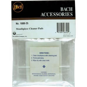 Bach 180025 Mouthpiece Cleaning Pads