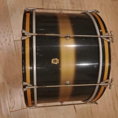 Ludwig 14x20 Bass Drum 1960's Black Gold Black Duco