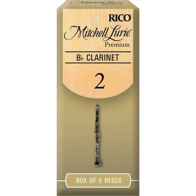 Rico RMLP5BCL200 Mitchell Lurie Premium Bb Clarinet Reeds - Strength 2.0 (5-Pack)