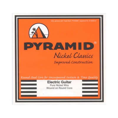 Pyramid Electric Pure Nickel Classics Round Wound Core Strings 10-52