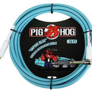 """PIG HOG 6/"""" 1//4 Right-Angle PATCH CABLE 8mm GUITAR Instrument CORD Effect LIL PIG"""