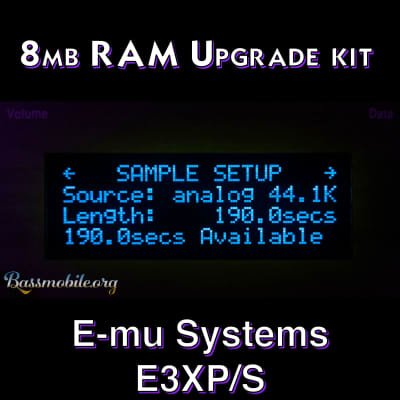 E-MU Systems Emulator IIIX 8 MB RAM upgrade kit by Bassmobile.org