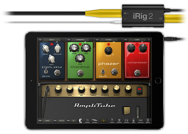 new ik multimedia irig 2 guitar instrument interface reverb. Black Bedroom Furniture Sets. Home Design Ideas