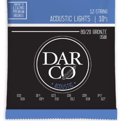 Martin D500 Darco 80/20 Bronze 12-String Acoustic Strings - Light