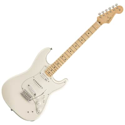 Fender EOB Sustainer Stratocaster - Ed O'Brien Radiohead Signature Electric Guitar Olympic White image