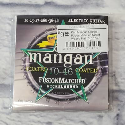 Curt Mangan Coated Fusion Matched Nickel Wound Plain 3rd 10-46 Electric Guitar Strings