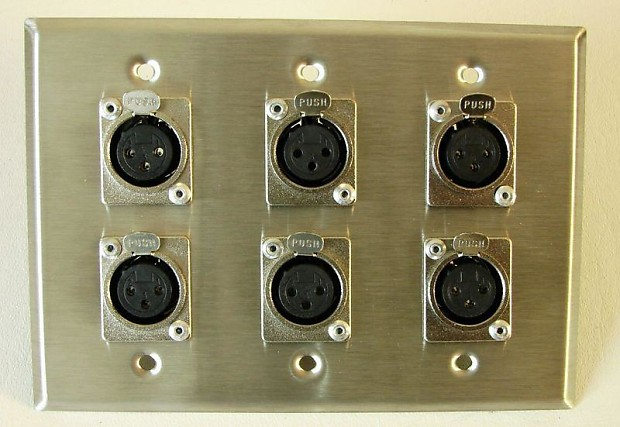 One Leviton Stainless Steel 3 Gang Wall Plate Loaded With Reverb