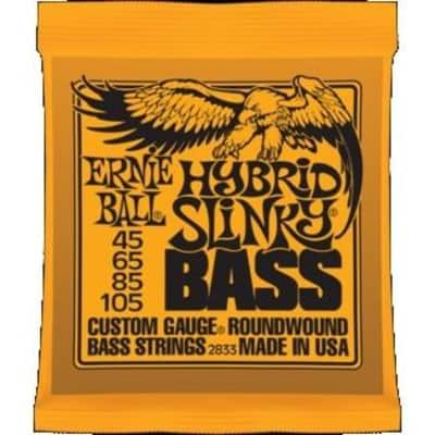 Ernie Ball 2833 Hybrid Slinky Nickel Wound Bass Strings; 45-105