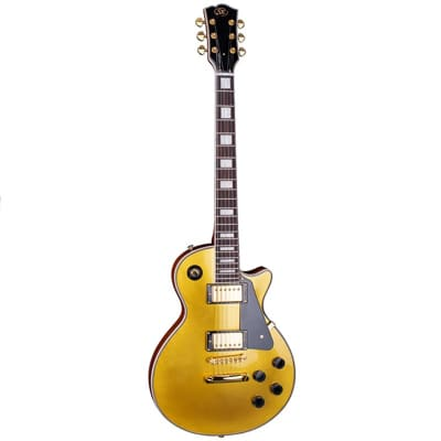 SX LP Style Electric Guitar Gold Top for sale