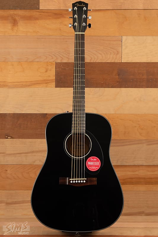 fender cd 60 acoustic black sims music reverb. Black Bedroom Furniture Sets. Home Design Ideas