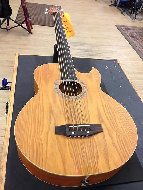 Harmonia 6 String Fretless Acoustic Electric Bass