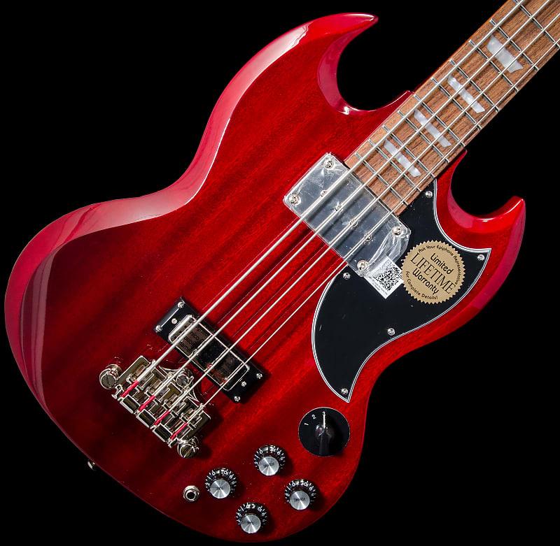 epiphone eb 3 sg style bass guitar 2 pickup cherry reverb. Black Bedroom Furniture Sets. Home Design Ideas