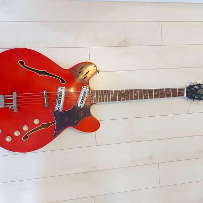Framus 5/114 52S fret jet 1969 red for sale
