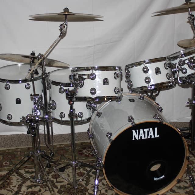 Natal Fusion Ash 7 Pc. Drum Kit 2016 White Swirl image