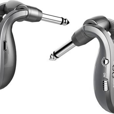 Xvive U2 rechargeable 2.4GHZ Wireless Guitar System - Digital Guitar Transmitter Receiver (Grey)