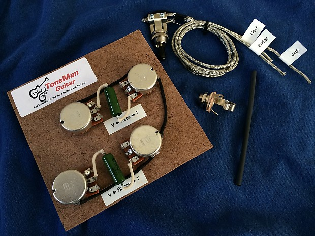 50 S Wiring Harness Les Paul : Les paul s wiring harness pio vintage tone caps reverb