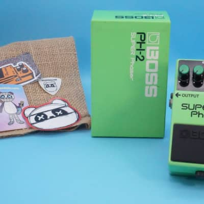 Boss PH-2 Super Phaser w/Original Box | Vintage 1986 Black Label (Made in Japan) | Fast Shipping!